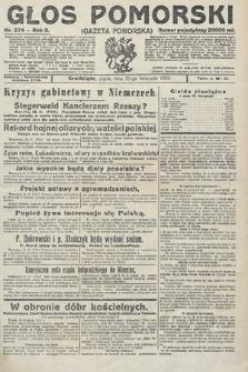 Głos Pomorski. 1923, nr274