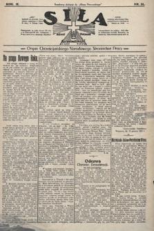 Siła : organ Chrześcijańskiego Narodowego Stronnictwa Pracy. 1922, nr 51
