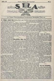 Siła : organ Chrześcijańskiego Narodowego Stronnictwa Pracy. 1923, nr1