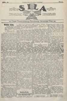 Siła : organ Chrześcijańskiego Narodowego Stronnictwa Pracy. 1923, nr2