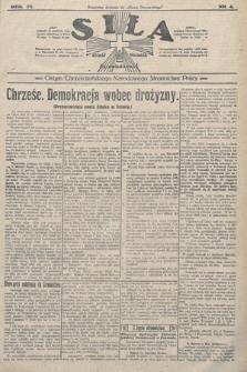 Siła : organ Chrześcijańskiego Narodowego Stronnictwa Pracy. 1923, nr4