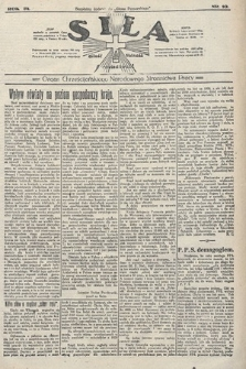 Siła : organ Chrześcijańskiego Narodowego Stronnictwa Pracy. 1923, nr10