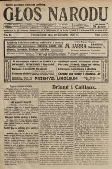 Głos Narodu. 1925, nr91