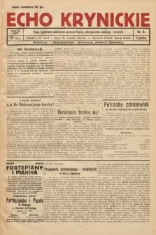 Echo Krynickie : pismo tygodniowe poświęcone sprawom Krynicy, zdrojownictwa polskiego i turystyki. 1927, nr3