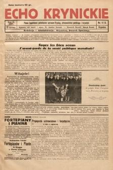 Echo Krynickie : pismo tygodniowe poświęcone sprawom Krynicy, zdrojownictwa polskiego i turystyki. 1927, nr4-5