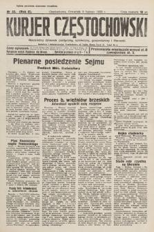 Kurjer Częstochowski : niezależny dziennik polityczny, społeczny, gospodarczy iliteracki. 1933, nr32