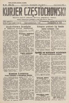 Kurjer Częstochowski : niezależny dziennik polityczny, społeczny, gospodarczy iliteracki. 1933, nr47