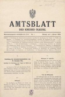 Amtsblatt des Kreises Olkusz. 1916, nr1
