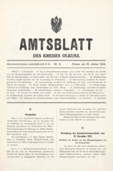 Amtsblatt des Kreises Olkusz. 1916, nr2