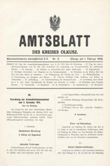 Amtsblatt des Kreises Olkusz. 1916, nr3