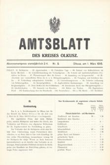 Amtsblatt des Kreises Olkusz. 1916, nr5