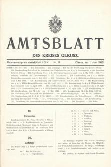 Amtsblatt des Kreises Olkusz. 1916, nr11