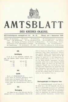 Amtsblatt des Kreises Olkusz. 1916, nr15