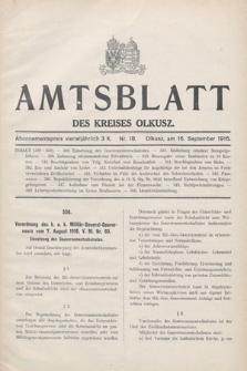 Amtsblatt des Kreises Olkusz. 1916, nr18