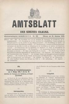 Amtsblatt des Kreises Olkusz. 1916, nr20