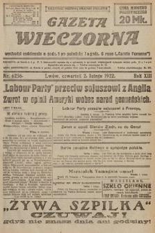 Gazeta Wieczorna. 1922, nr6256