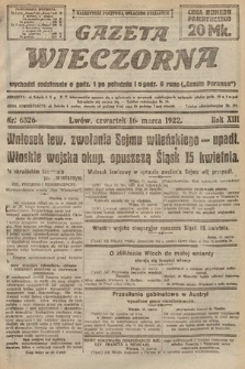 Gazeta Wieczorna. 1922, nr6326