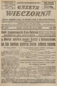 Gazeta Wieczorna. 1922, nr6327