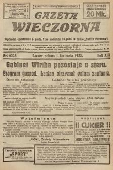 Gazeta Wieczorna. 1922, nr6335