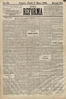 Nowa Reforma. 1893, nr63