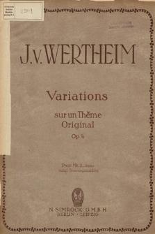 Variations sur un thème original : Op. 4