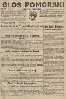 Głos Pomorski. 1925, nr43