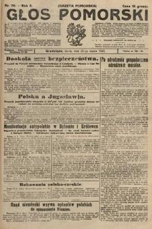 Głos Pomorski. 1925, nr70
