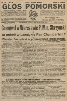 Głos Pomorski. 1925, nr71