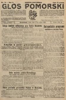 Głos Pomorski. 1925, nr72