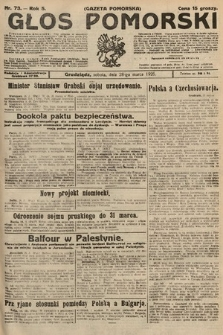 Głos Pomorski. 1925, nr73