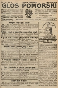 Głos Pomorski. 1925, nr74