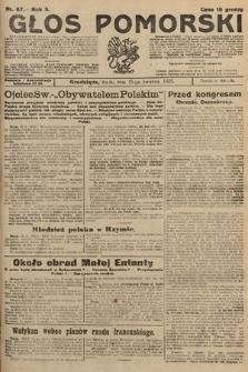 Głos Pomorski. 1925, nr87