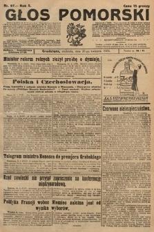 Głos Pomorski. 1925, nr97