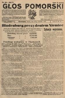 Głos Pomorski. 1925, nr98