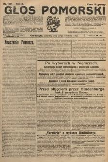 Głos Pomorski. 1925, nr100