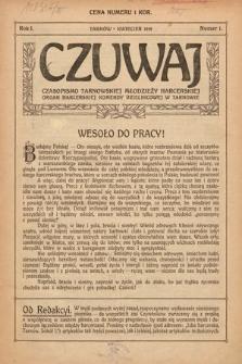 Czuwaj : czasopismo tarnowskiej młodzieży harcerskiej. 1919, nr1