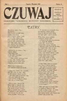 Czuwaj : czasopismo tarnowskiej młodzieży harcerskiej. 1919, nr4