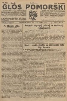 Głos Pomorski. 1925, nr135
