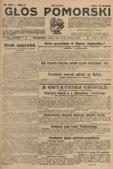 Głos Pomorski. 1925, nr137