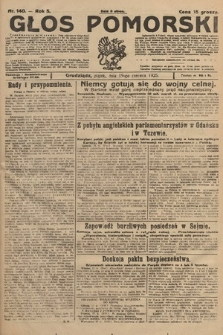 Głos Pomorski. 1925, nr140