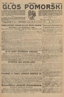 Głos Pomorski. 1925, nr141