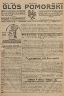 Głos Pomorski. 1925, nr142