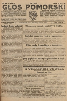 Głos Pomorski. 1925, nr144