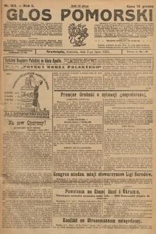 Głos Pomorski. 1925, nr153