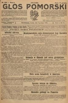 Głos Pomorski. 1925, nr154