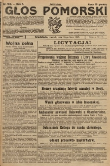 Głos Pomorski. 1925, nr162