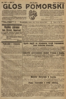 Głos Pomorski. 1925, nr187