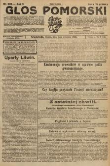 Głos Pomorski. 1925, nr201