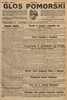 Głos Pomorski. 1925, nr203
