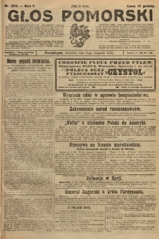 Głos Pomorski. 1925, nr206